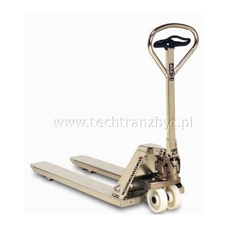 Ręczny wózek paletowy AM G20 V–BV prowadzony dyszlem – galwanizowany (ocynkowany ogniowo i lakierowaniem)