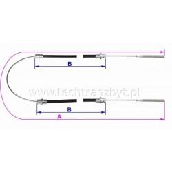 Linka hamulca ręcznego (długa) do wózków platformowych EP 006 EP 011 ES 301